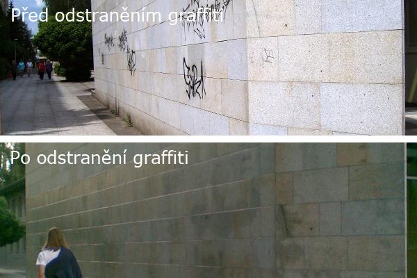Odstraníme graffiti, ochráníme fasády proti grafitům