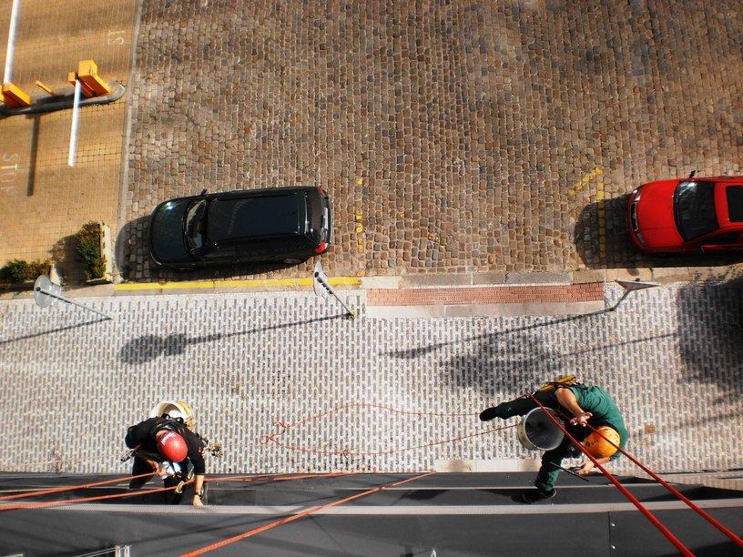 Praha 3, výlohy, okna, i výškové umývání